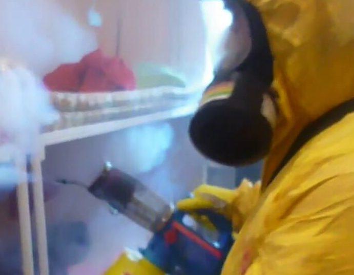 Травля тараканов туманом в помещении